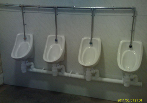 Urinals after refit