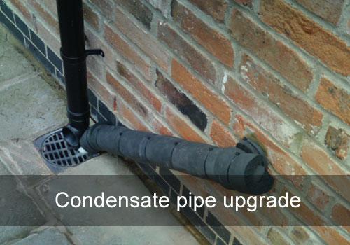 G a s ltd condensate pipe upgrade