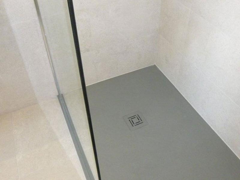 """View of """"Truestone"""" shower tray."""